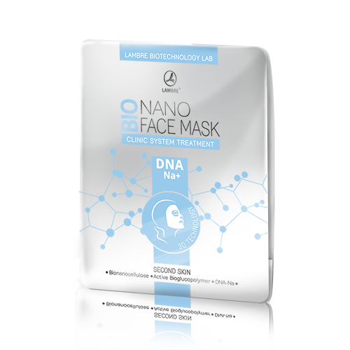 Бионаноцеллюлозная маска для лица BIONANO FACE MASK DNA-NA+